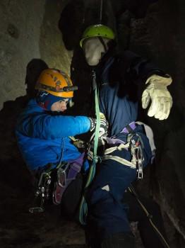Rettung des aus dem Seil