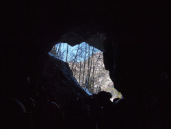 Blick aus der Höhle