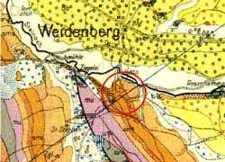 geologische Karte Weidenberg